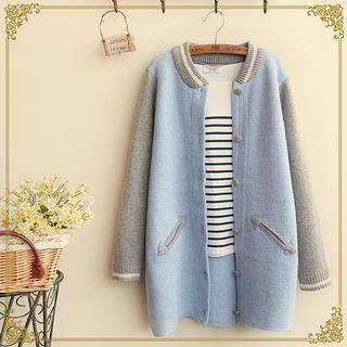 Buy 'Fairyland – Color Block Long Baseball Jacket' with Free International Shipping at YesStyle.com. Browse and shop for thousands of Asian fashion items from China and more!