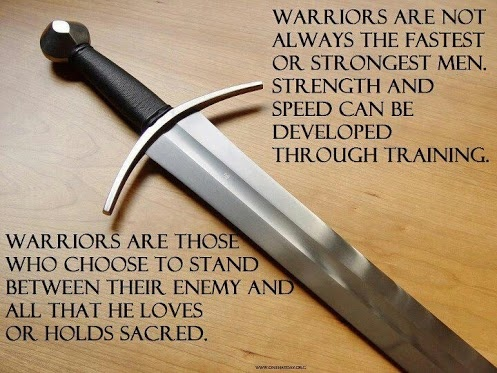The definition of a Warrior- someone who choose to stand between the enemy and all that he loves or hold sacred. Doug Stryker via Google+