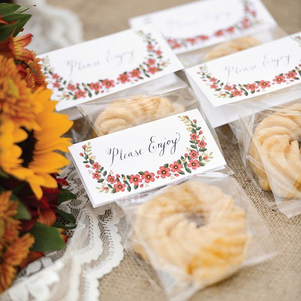 Floral Treat Toppers with Cello Bags