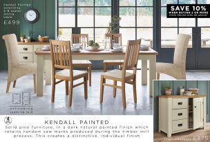 Buy Kendall Painted 6 To 8 Seater Extendable Dining Table from the Next UK online shop