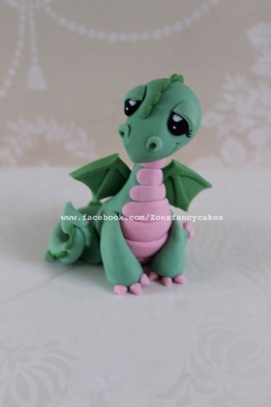 little dragon cake topper