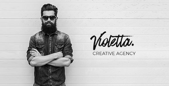 Violetta   Creative Agency Minimal Responsive Site Template. Full view: https://themeforest.net/item/violetta-creative-agency-minimal-responsive-site-template/17089539?ref=thanhdesign
