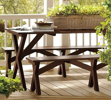 The Best Picnic Tables Images On Pinterest Dinner Parties - Pottery barn picnic table
