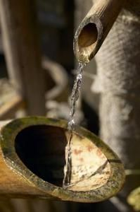 *DIY* Rocking bamboo fountains are traditionally found in Asian gardens.