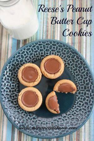 Reese's Peanut Butter Cup Cookies | Christmas Cookie Idea
