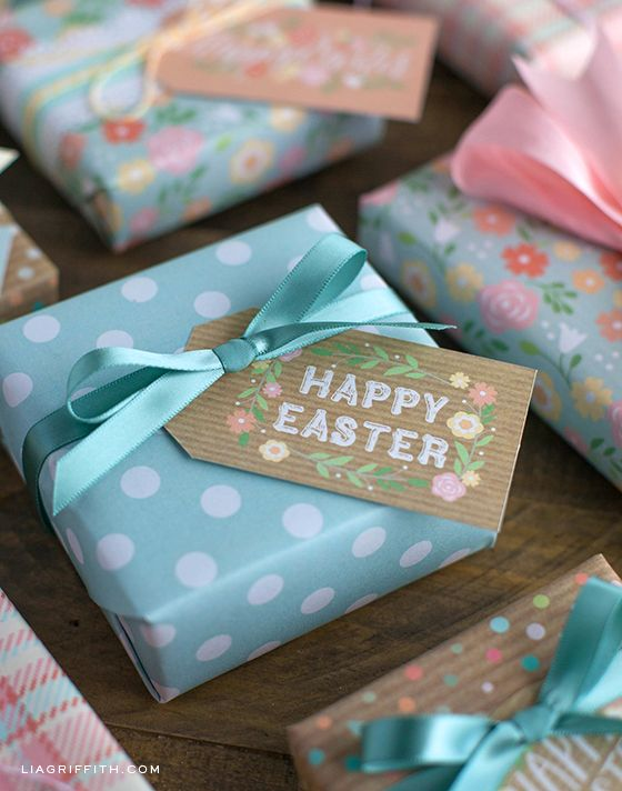 96 best diy easter images on pinterest easter easter crafts and pretty easter gift tags and gift wrap for you to print negle