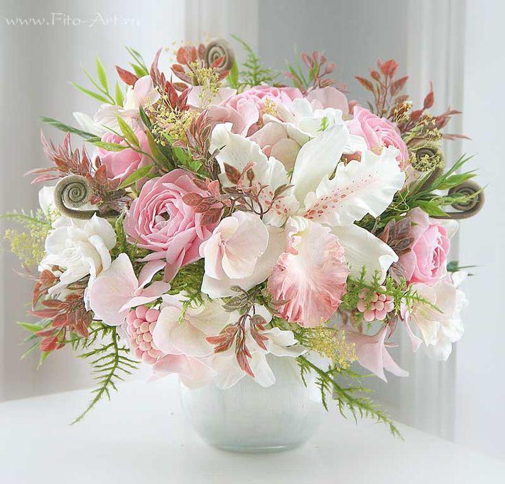 Pink Vanilla. Цветы из полимерной глины. Екатерина Звержанская.