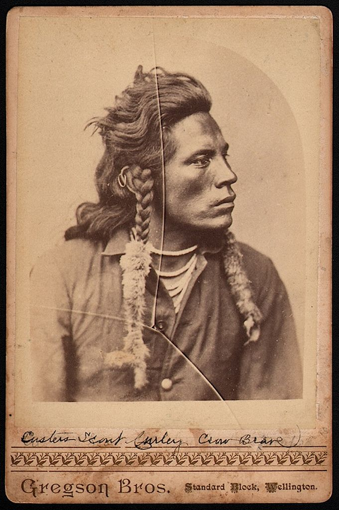 """Custer's Scout Curley Crow Brave"""" circa 1879"""