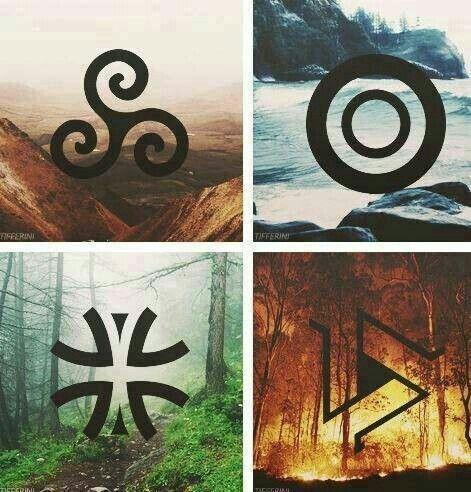 Teen Wolf Druid Symbols (Michael J. Fox was the best teen wolf xD)