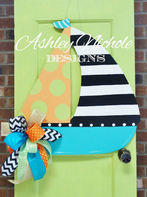 Hey, I found this really awesome Etsy listing at https://www.etsy.com/listing/189796815/wooden-sailboat-door-hanger-door