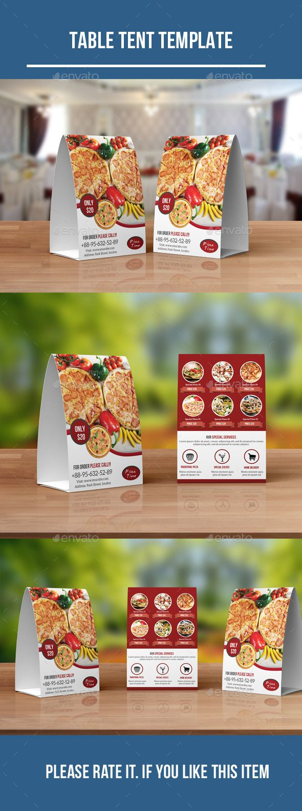 Food Menu Table Tent Template #design Download: http://graphicriver.net/item/food-menu-table-tent/12421847?ref=ksioks