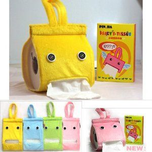 BDS - Cute Blue Bathroom Toilet Tissue Paper Roll Holder Cover