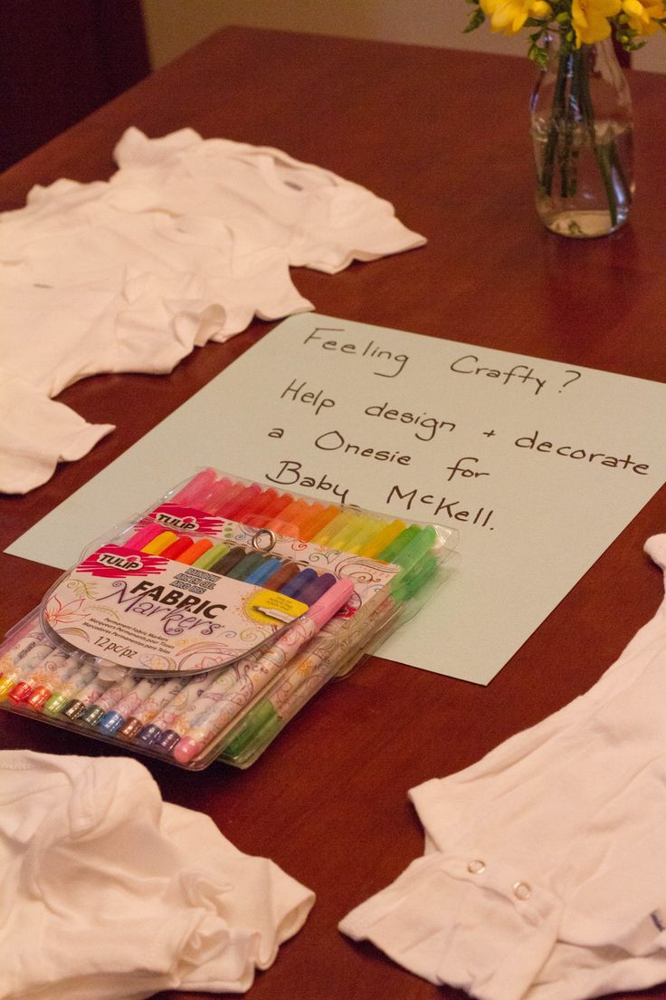 Design a Onesie - Baby Shower Game & Art.