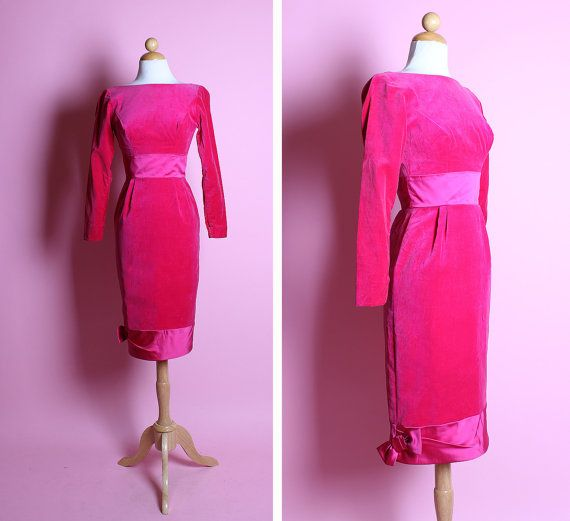 FABULOUS 1950's Sciaparelli Shocking Hot Pink by butchwaxvintage, $195.00