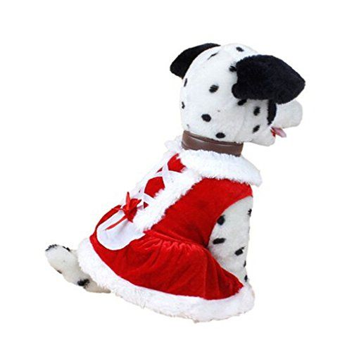 Pet Shirt,Haoricu Winter Christmas Dog Clothes Santa Costume Small Dog Cat Pet Clothing Puppy T Shirt Apparel Dog Warm Outwear (L, Red) -- Find out more at the image link.
