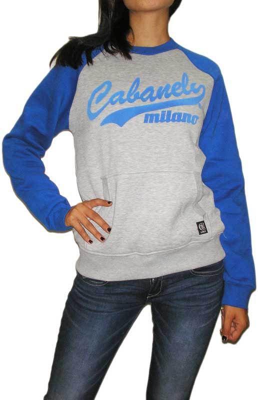 Cabaneli φούτερ μπλούζα γκρι-μπλε ρουά #joy #style #fashion