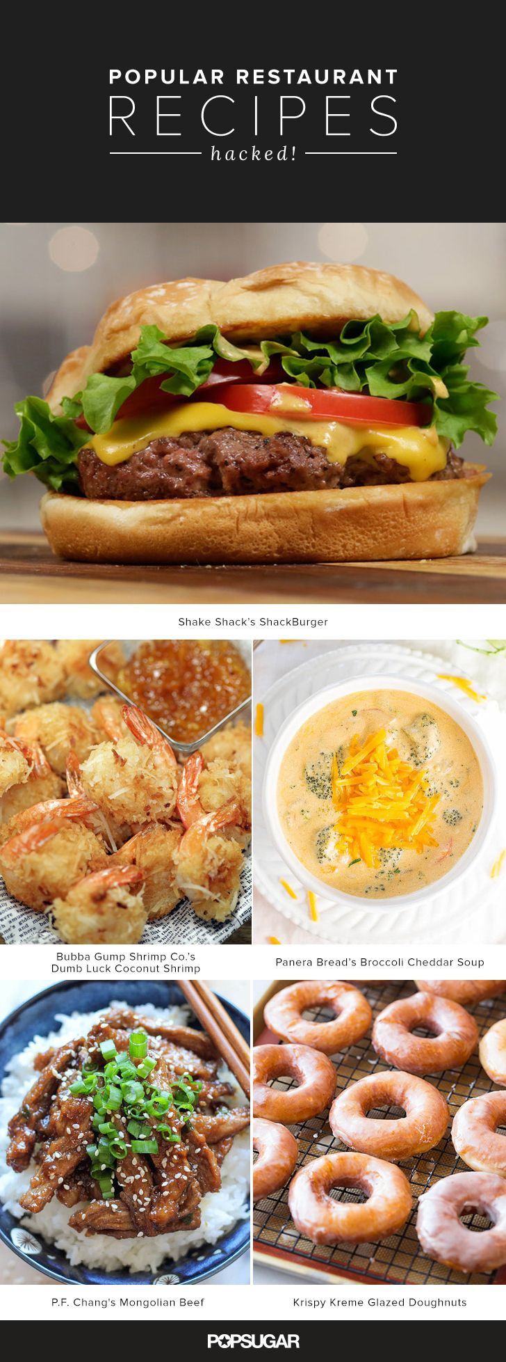From Magnolia Bakery's classic vanilla cupcakes to Red Lobster's addictive Cheddar Bay Biscuits, we've rounded up the best restaurant copycat recipes. (Some even come straight from the source!) Keep reading for 68 tempting options, but be warned: you're about to get very, very hungry.