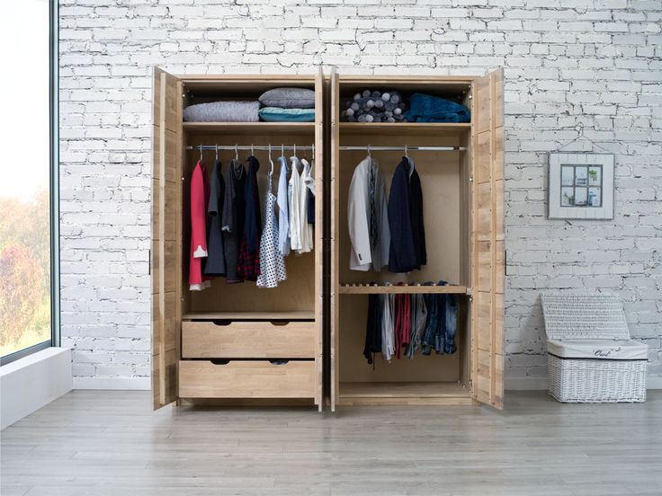 Szafa modułowa z drewna dębowego - kolekcja Dream Bedroom