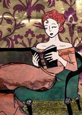 woman reading by Heather Wilson
