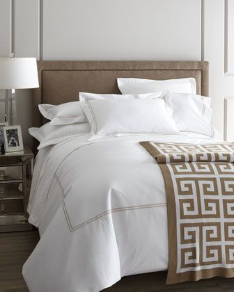 """""""Resort"""" Bed Linens by SFERRA at Horchow."""