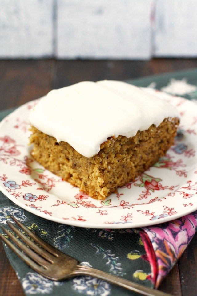 frosted gluten free banana cake