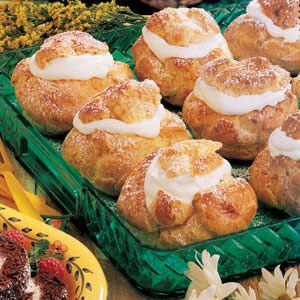 State Fair Cream Puffs for Christmas dessert! Thinking about filling with custard, strawberries and raspberries.