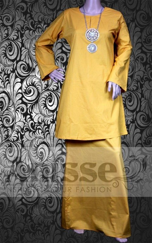 ARIANI YELLOW GOLD | Kurung Moden Cotton Plain |