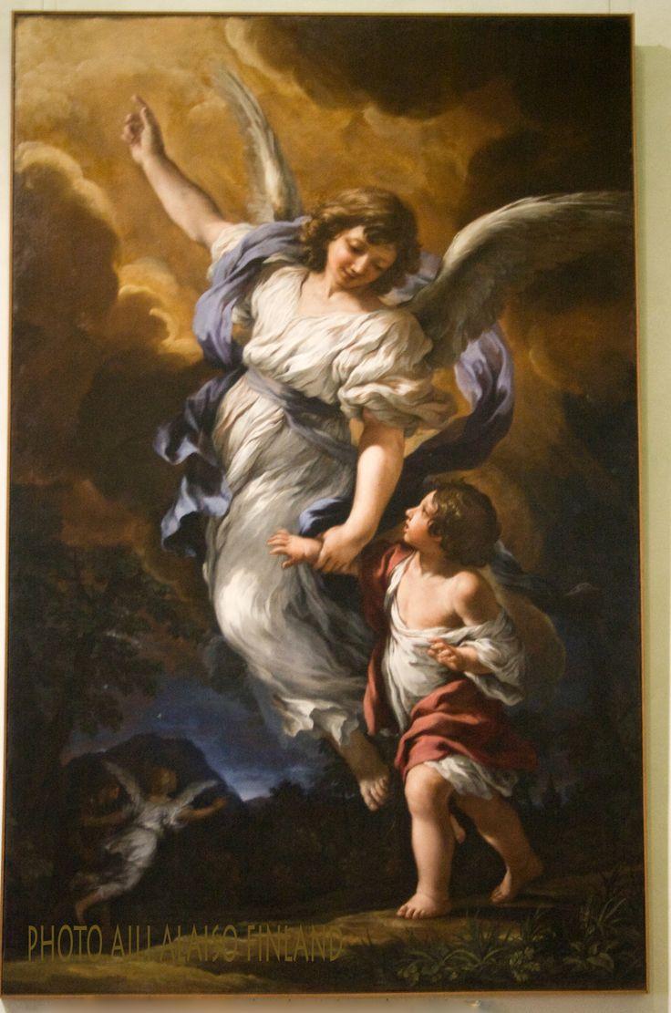 """"""" Guardian Angel and Child """" Palazzo Barberini ,   Galleria Nazionale Darte Antica, Roma Italia"""