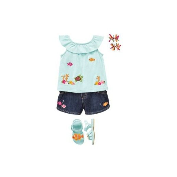 Gymboree - Floral Reef ❤ liked on Polyvore featuring floral reef and girls outfits
