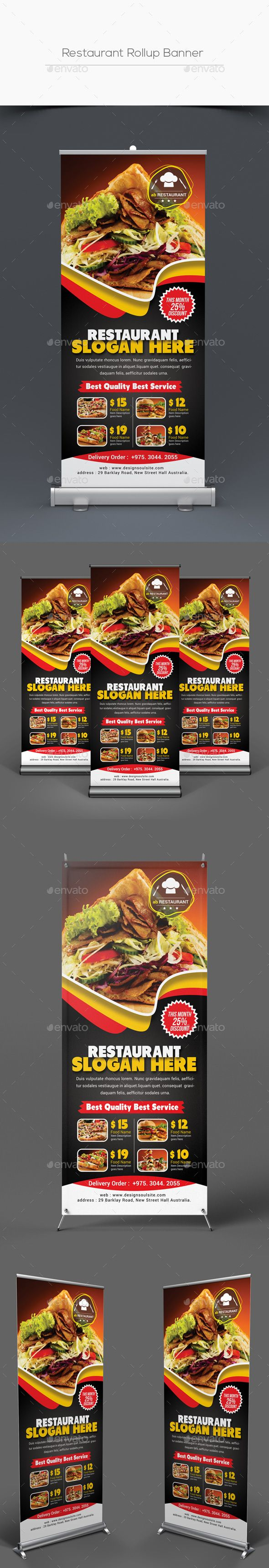 Restaurant Rollup Banner #bbq rollup banner #coffee flyer Download : graphicrive...