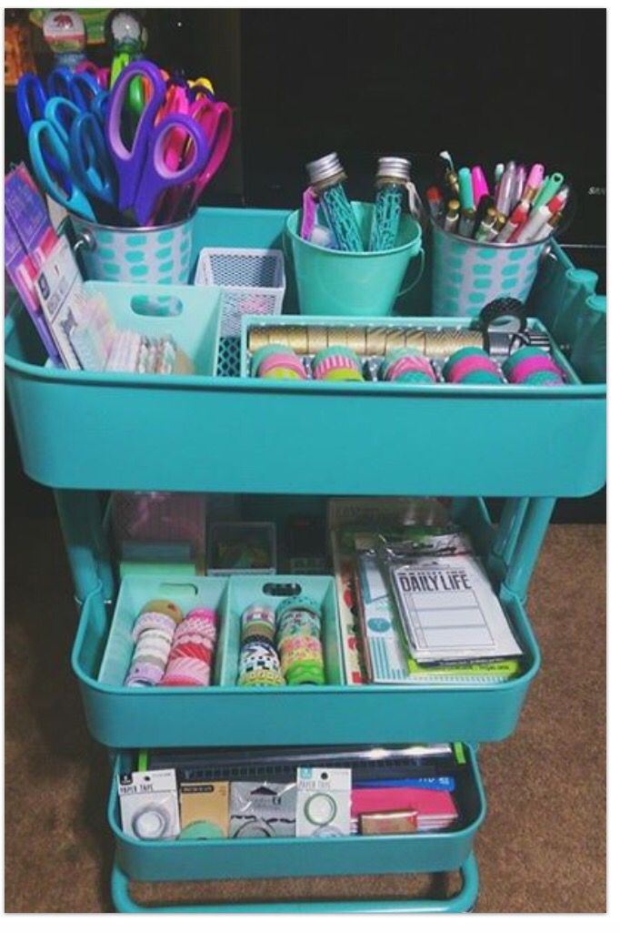 Ikea Raskog cart for organization
