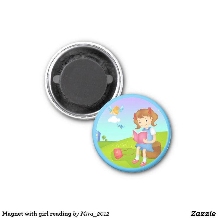 Magnet with girl reading