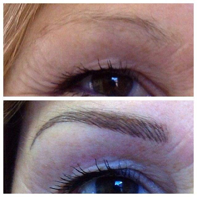 Eyebrow Tattoo Before and After in St. Paul Mn