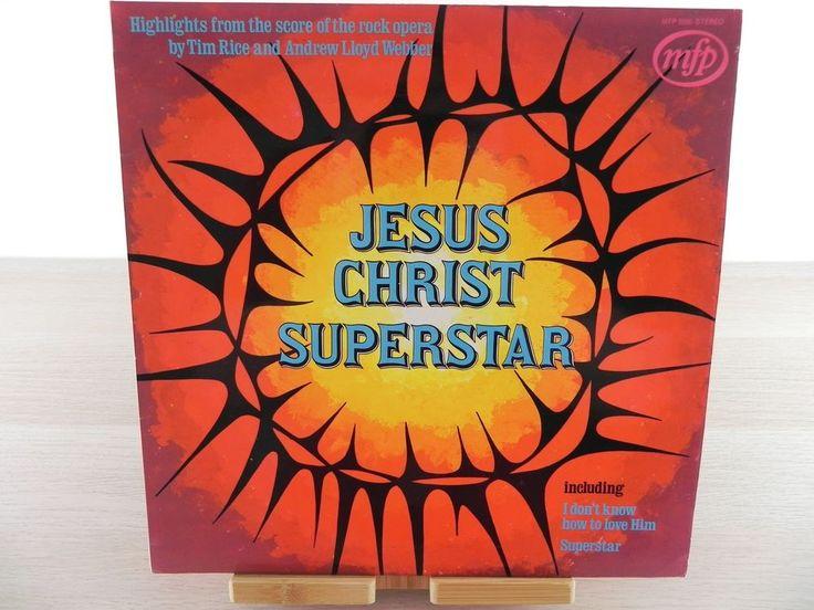 Jesus Christ superstar- Tim Rice and Andrew Lloyd Webber LP 1972 used vgc
