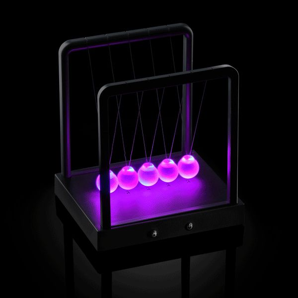 Kinetic Light Newton's Cradle is the single most addicting way to demonstrate Newton's law of conservation of momentum and energy. GetdatGadget.com