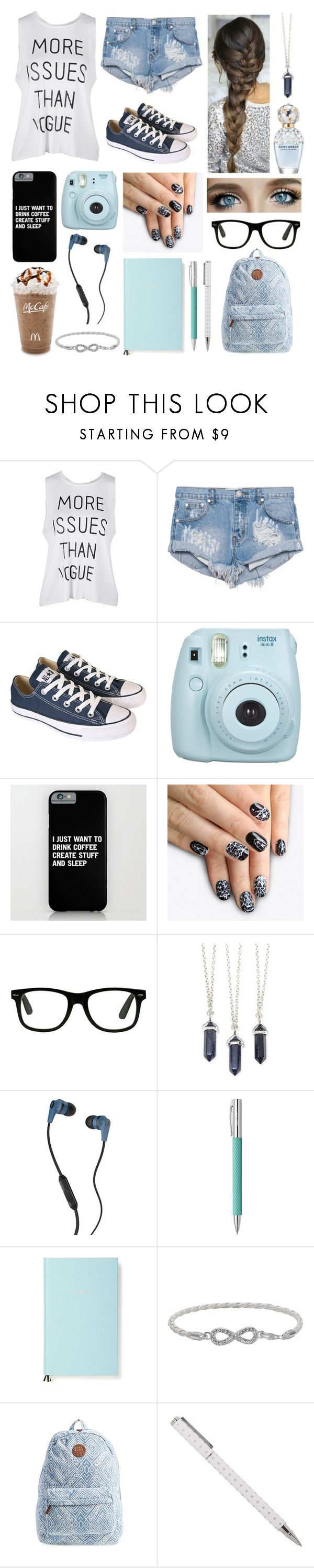 """Complete"" by heaven-cedeno ❤ liked on Polyvore featuring OneTeaspoon, Converse, Fujifilm, alfa.K, Marc Jacobs, Skullcandy, Faber-Castell, Kate Spade, Malin + Mila and Billabong"