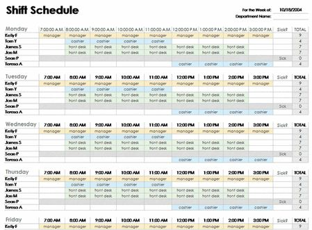 Excel Employee Schedule Template Free Download Schedule Templates Weekly Schedule Template