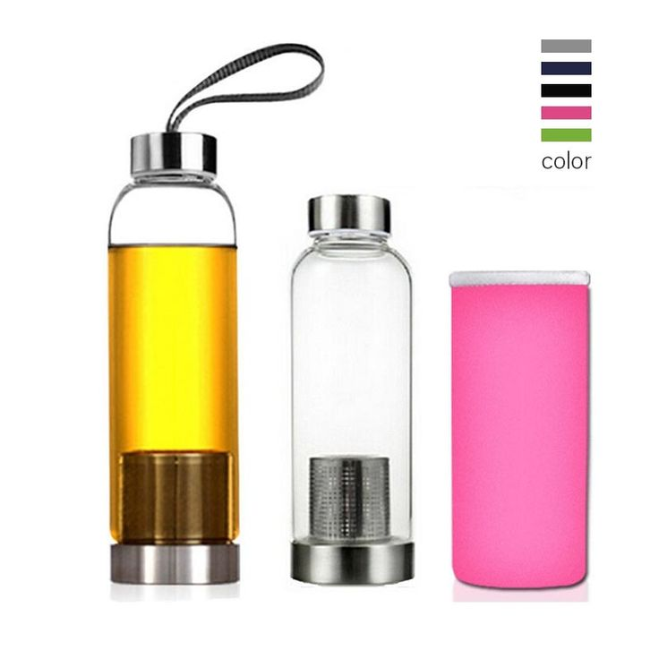 Universal 550ml BPA Free High Temperature Resistant Glass Sport Water Bottle With Tea Filter Infuser Bottle Cup Protective Bag #clothing,#shoes,#jewelry,#women,#men,#hats,#watches,#belts,#fashion,#style