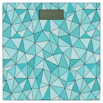 Images Of Geometric Cyan Triangles Modern Bathroom Scale patterns pattern special unique design gift idea diy