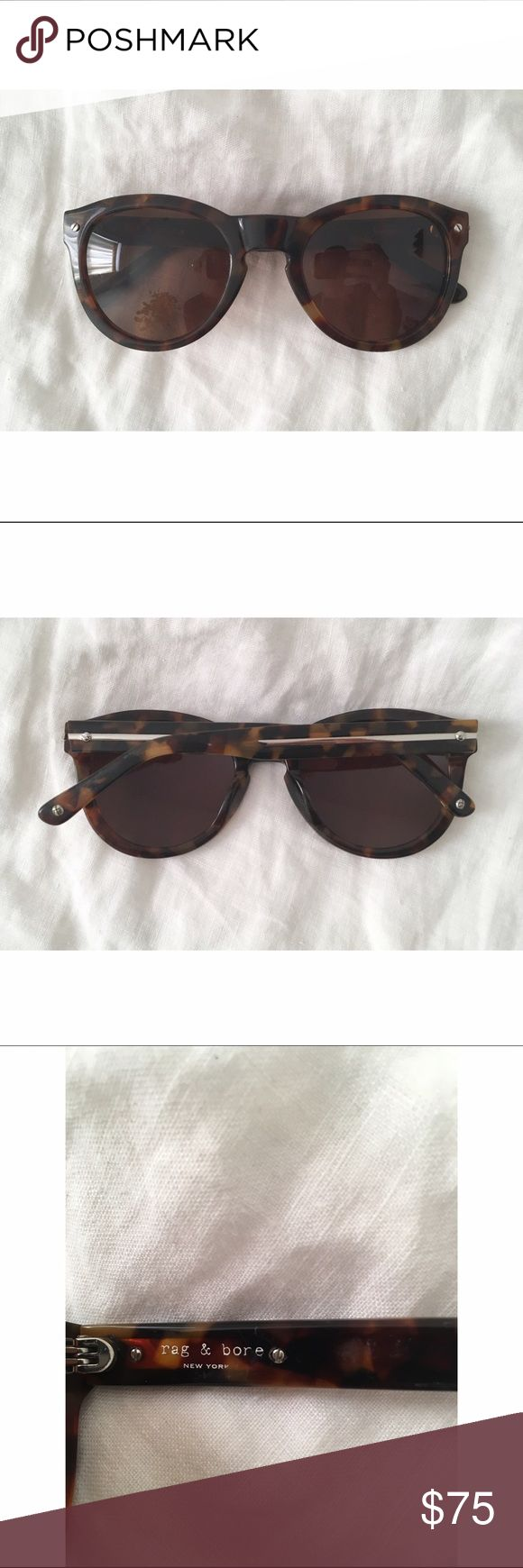 Rag & Bone Sunglasses Tortoise shell sunglasses that are in great condition. There is the usual wear marks, but there are no scratches.  Metal detailing on he arms. Very well made (made in Japan). rag & bone Accessories Sunglasses