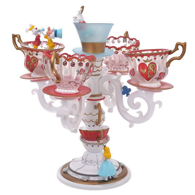 Alice in Wonderland ALICE PARTY LED Light Tea Cup Lamp Figure Disney Japan EMS | eBay