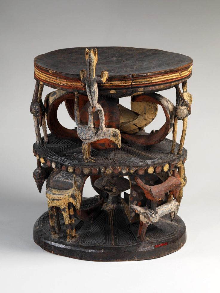 Perfect Ozo Title Stool From The Igbo People Of Nigeria | Wood And Pigment | 19th