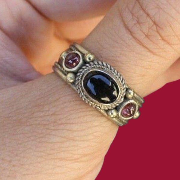 Thumb #ring Open rings for women Multistone adjustable statement Boho gemstone #jewelry #Ethnic ring tribal Simple minimalist #Hippie gypsy