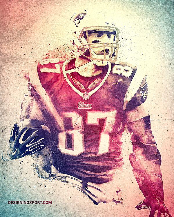 Rob Gronkowski, New England Patriots — 'True Patriots' Poster Series (scheduled via http://www.tailwindapp.com?utm_source=pinterest&utm_medium=twpin&utm_content=post616267&utm_campaign=scheduler_attribution)