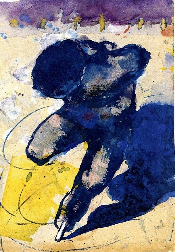 Ice Skater Emil Nolde - 1938-1945Emile Nolde (German~Danish 1867~1956) | He was one of the first Expressionists, a member of Die Brücke.Artist Emile NoldeFosterginger.Pinterest.ComMore Pins Like This One At FOSTERGINGER @ PINTEREST No Pin Limitsでこのようなピンがいっぱいになるピンの限界He was one of the first Expressionists, a member of Die Brücke, and is considered to be one of the great oil painting and watercolour painters of the 20th century.