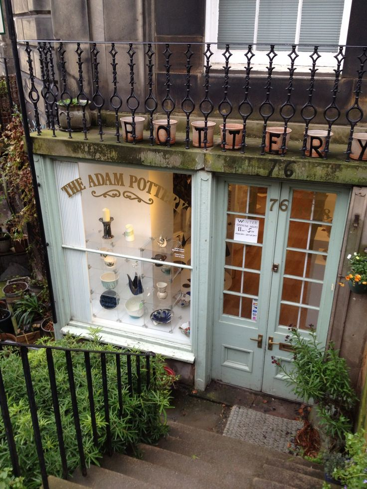 Adam Pottery •• Edinburgh, Scotland | A great shop that produces its own ceramics and also features a gallery space.