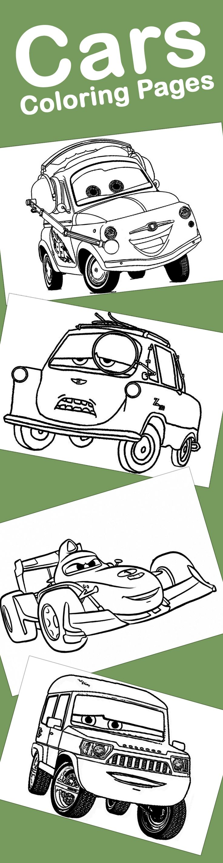Top 10 Colorful Cars Coloring Pages For Your Little One: Here's where you can make a collection of coloring pages of cars 2 movie, the following are the top 10 car coloring pages printable.