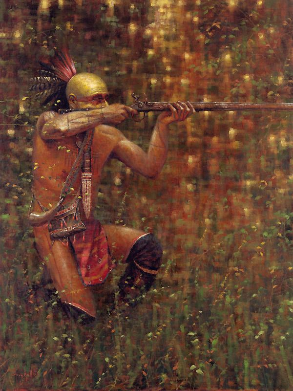 """Doug Hall is a new artist we just added and his portrayals of Eastern American Indians is fantastic.  If you loved the movie """"Last of the Mohicans"""" then you can appreciate this artwork!"""