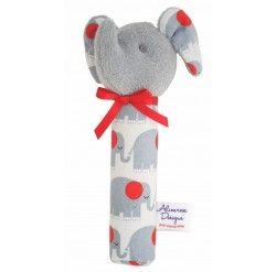 Elephant Squeaker - Grey Grey