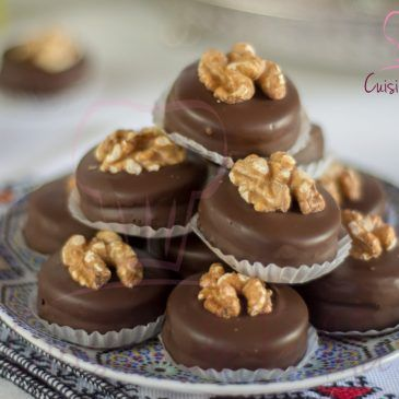 Sablés au noix et au chocolat